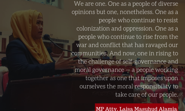 MP Atty. Laisa Alamia Calls for Unity, Reiterates Support to the Bangsamoro Government