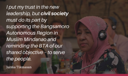 Building social capital with the Bangsamoro is a must