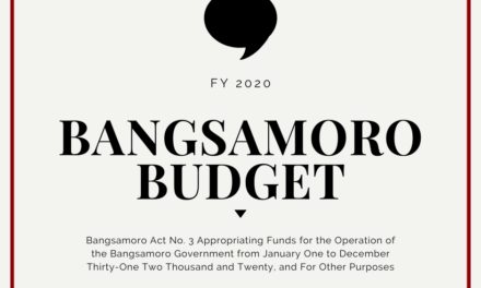 Budget in Brief: The FY2020 Bangsamoro Budget