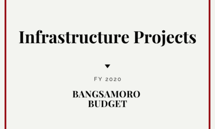 The Region's Infrastructure Projects for 2020: The FY2020 Bangsamoro Budget