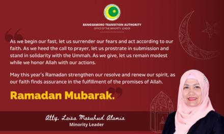 A Message from Minority Leader Laisa Masuhud Alamia