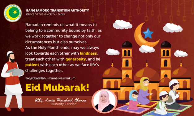 Eid Message from Minority Leader Atty. Laisa Masuhud Alamia