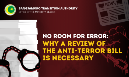 No Room For Error: Why a Review of the Anti-Terror Bill is Necessary
