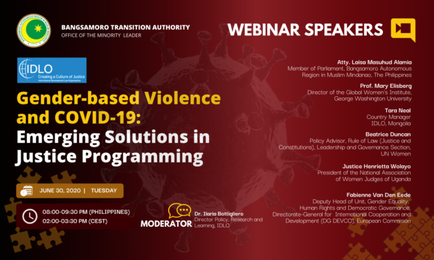 Gender-based Violence and COVID-19: Emerging Solutions in Justice Programming Webinar