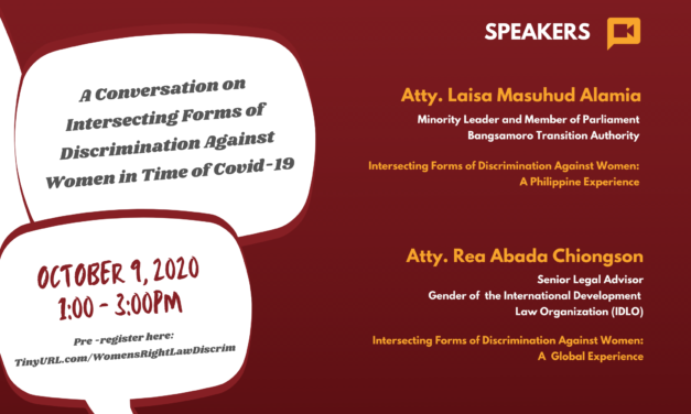 BABAE KA KASI: A Conversation on Intersecting Forms of Discrimination Against Women in Time of COVID-19