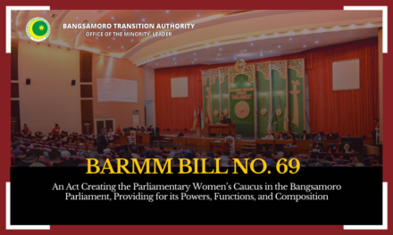 MP Alamia files Women's Caucus Bill in Bangsamoro Parliament