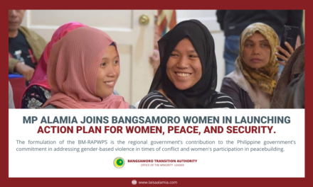 MP Alamia joins Bangsamoro women in launching action plan for women, peace, and security