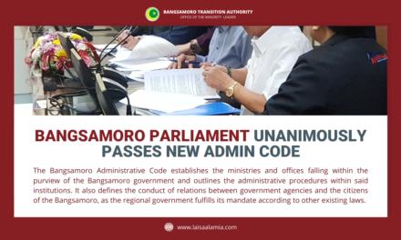 Bangsamoro Parliament unanimously passes new admin code