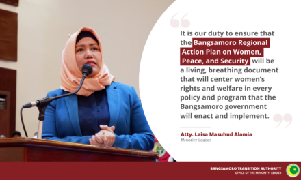 MP Alamia's message during the launch of Bangsamoro Regional Action Plan on Women, Peace, and Security