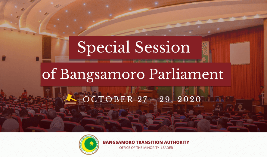 Special Session of Bangsamoro Parliament