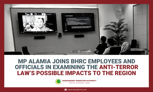MP Alamia Joins BHRC employees and officials in Examining the Anti-Terror Law's Possible Impacts to the Region