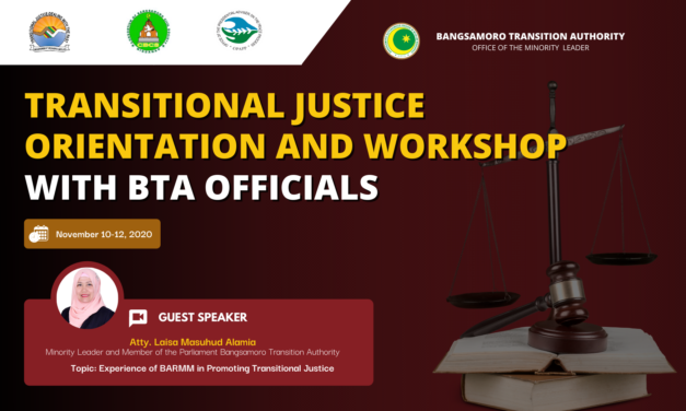 Transitional Justice Regional Training Camp for Bangsamoro Transition Authority and BARMM Officials