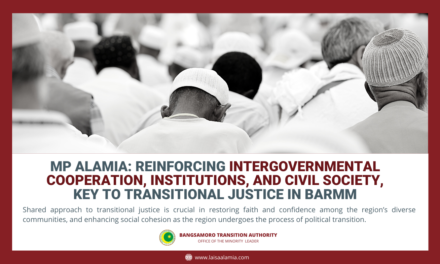 MP Alamia: Reinforcing intergovernmental cooperation, institutions, and civil society, key to transitional justice in BARMM