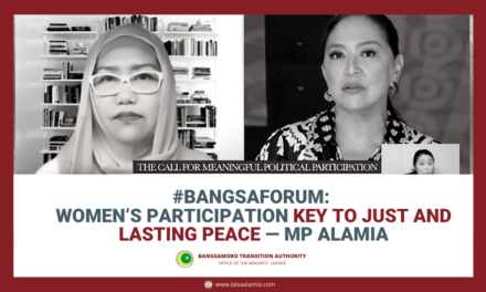 #BangsaForum: Women's participation key to just and lasting peace — MP Alamia