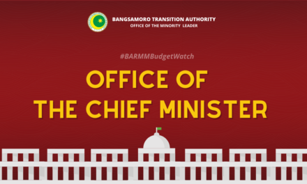 #BARMMBudgetWatch: Office of the Chief Minister