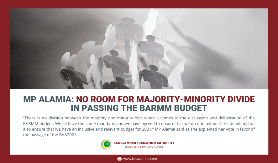 MP Alamia: No room for majority-minority divide in passing the BARMM budget