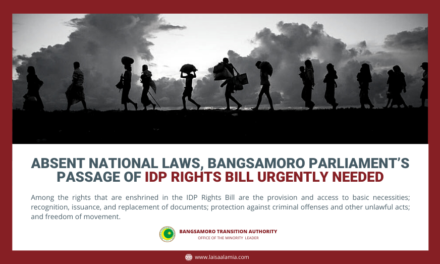 Absent national laws, Bangsamoro Parliament's passage of IDP Rights Bill urgently needed