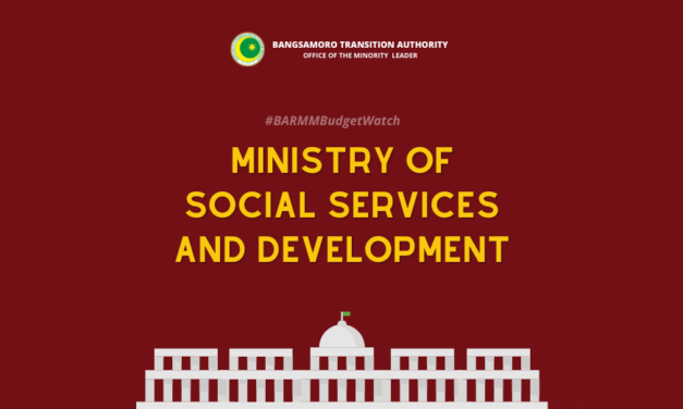 #BARMMBUDGETWATCH: MINISTRY OF SOCIAL SERVICES AND DEVELOPMENT