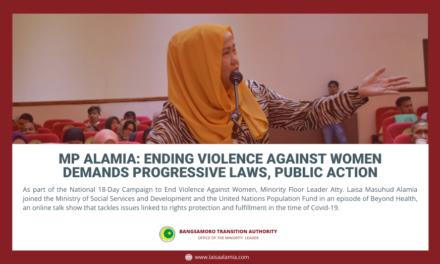 MP Alamia: Ending violence against women demands progressive laws, public action
