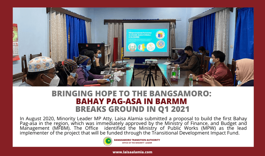 Bringing hope to the Bangsamoro: Bahay Pag-Asa in BARMM breaks ground in Q1 2021
