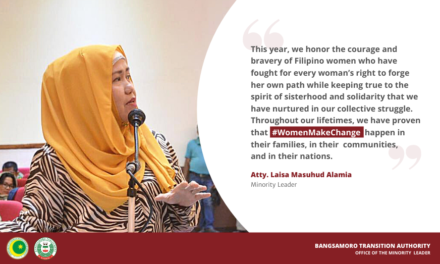 2021 Women's Month: Message of MP Atty.Laisa Masuhud Alamia