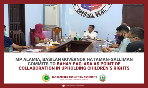 MP Alamia, Basilan Governor Hataman-Salliman commits to Bahay Pag-Asa as point of collaboration in upholding children's rights