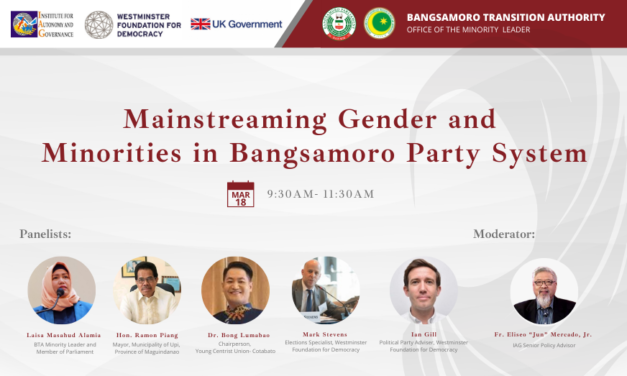 Mainstreaming Gender and Minorities in Bangsamoro Political Party System