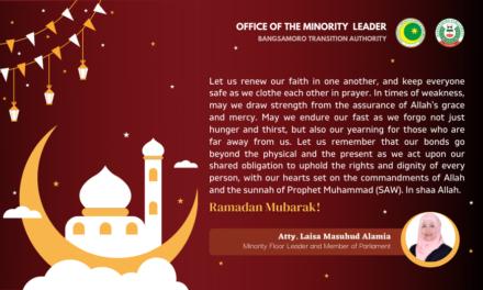 A Message of Atty.Laisa Masuhud Alamia