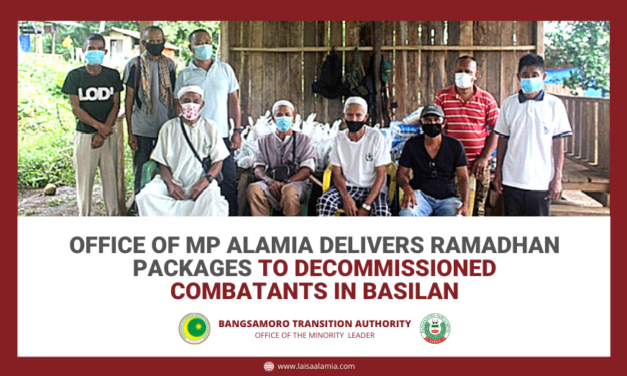 Office of MP Alamia delivers Ramadan Packages to decommissioned combatants in Basilan