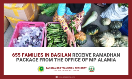 655 families in Basilan receive Ramadhan package from THE OFFICE OF MP ALAMIA