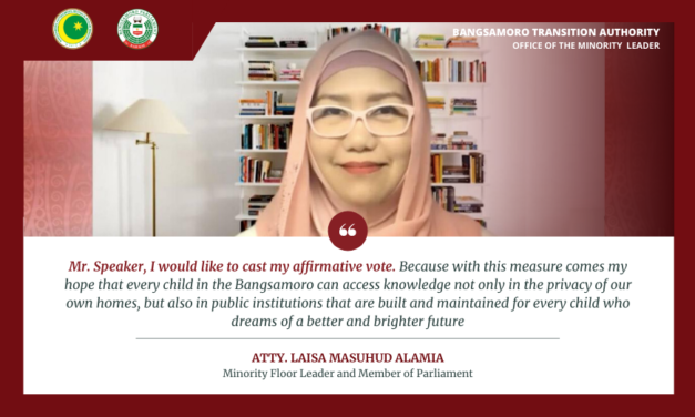 READ  MP Alamia's full remarks on the passage of the Bangsamoro Education Code