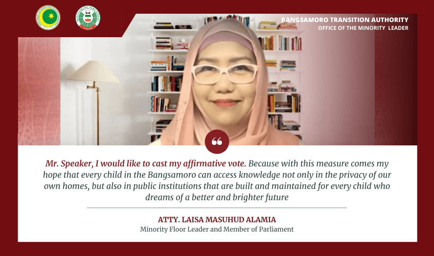 READ| MP Alamia's full remarks on the passage of the Bangsamoro Education Code