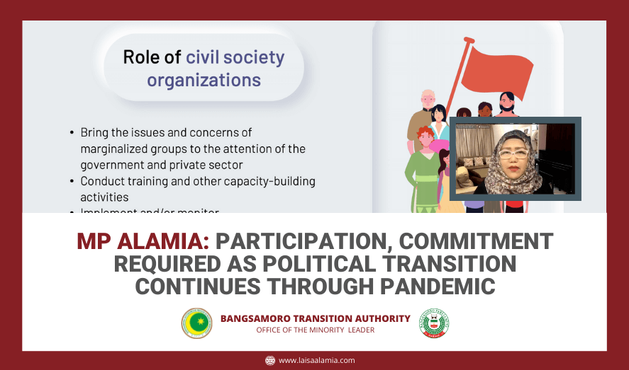 MP Alamia: Participation, commitment required as political transition continues through pandemic