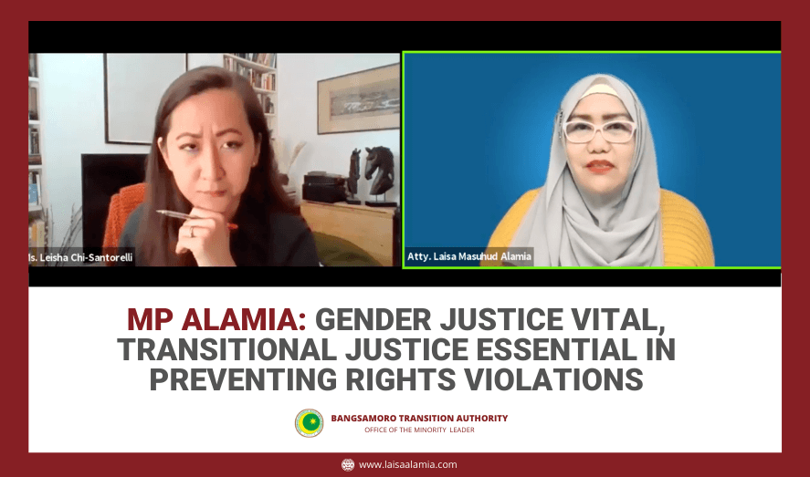 MP Alamia: Gender justice vital, transitional justice essential in preventing rights violations