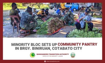 Minority bloc sets up community pantry in Brgy. Biniruan, Cotabato City