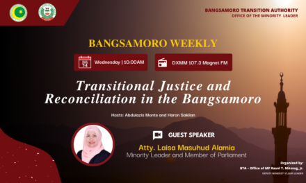 Transitional justice, reconciliation programs essential to strengthening the Bangsamoro region