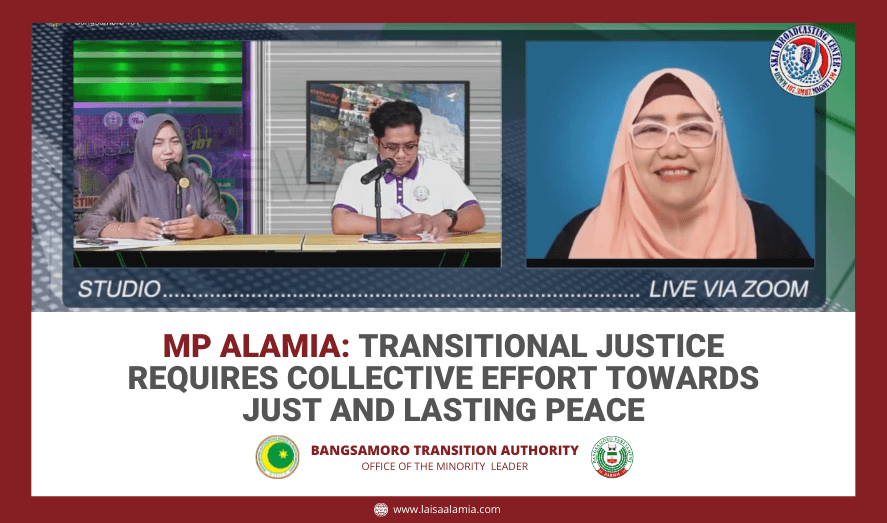 MP Alamia: Transitional justice requires collective effort towards just and lasting peace