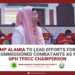 MP Alamia to lead efforts for decommissioned combatants as new GPH TFDCC Chairperson