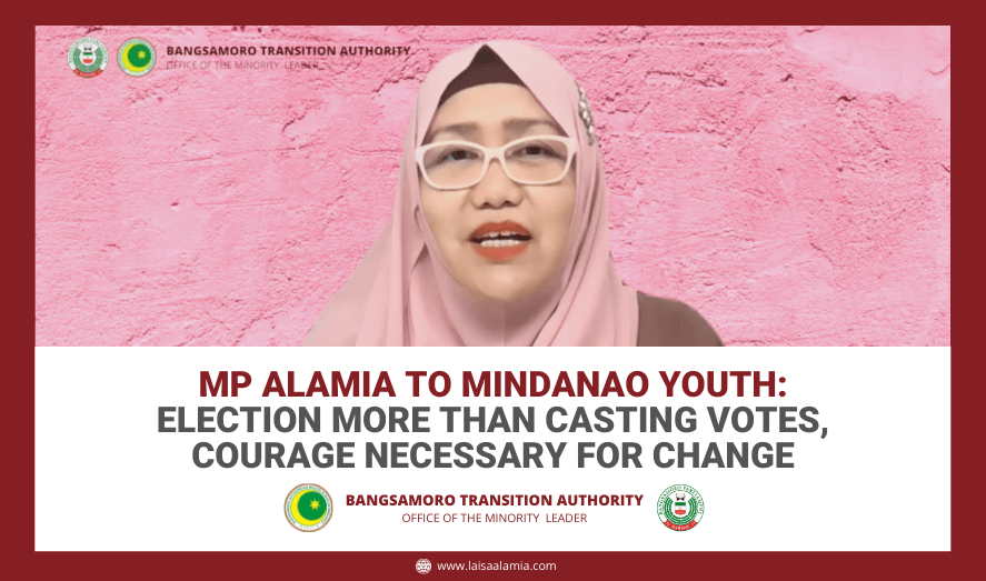 MP Alamia to Mindanao youth: Election more than casting votes, courage necessary for change