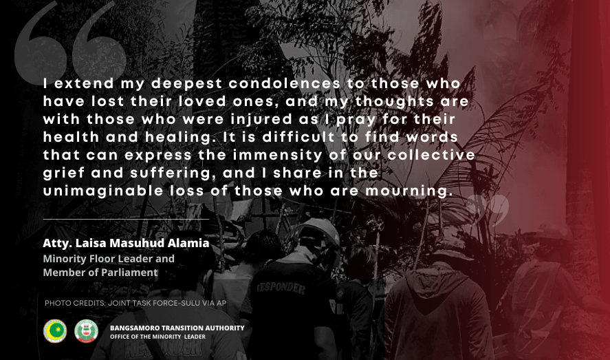 Minority Leader Atty.Laisa Masuhud Alamia's Statement on the C-130 Crash in Patikul, Sulu
