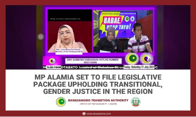 MP Alamia set to file legislative package upholding transitional, gender justice in the region