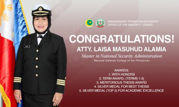 Congratulations, Atty. Laisa Masuhud Alamia!